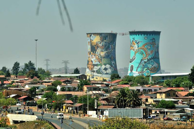 Cooling towers of the decommissioned Orlando Power Station are a Soweto landmark - ExplorationVacation.net