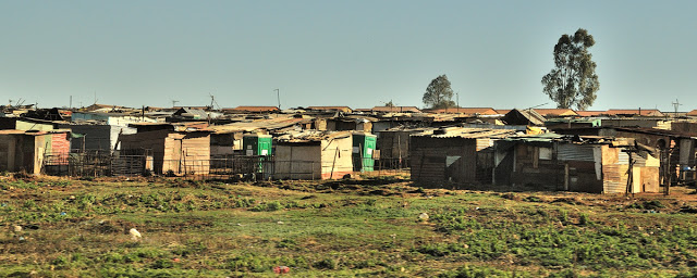 Shanty town outside Johannesburg, South Africa - ExplorationVacation.net