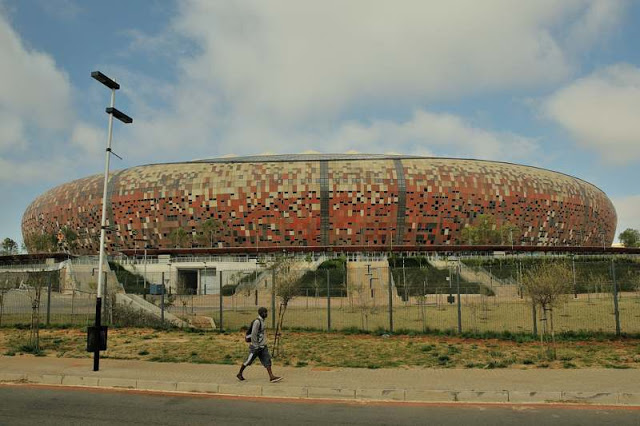 Soccer stadium in Johannesburg, South Africa - ExplorationVacation.net