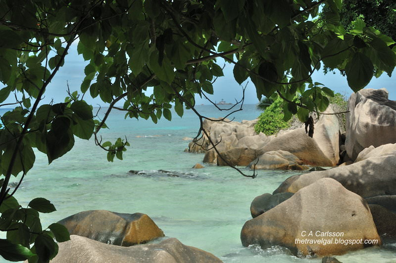 beach with boulders