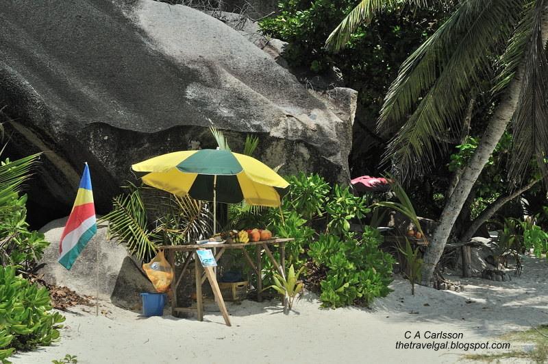 juice stand on beach