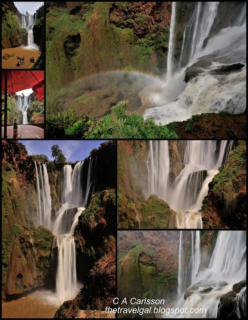 Ouzoud Falls collage