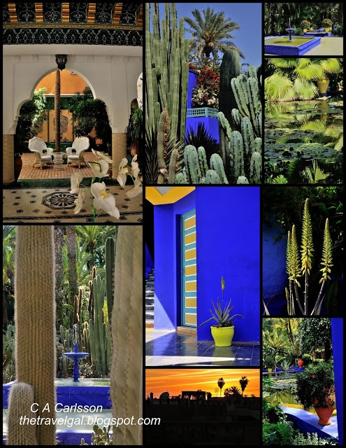 Marrakesh collage with Majorelle Garden