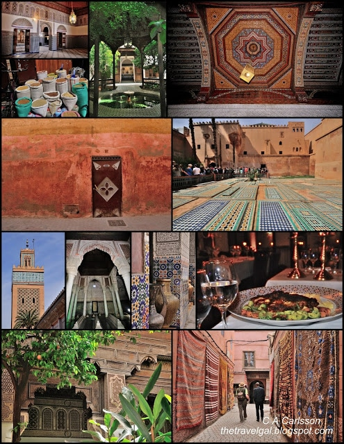 Collage of images from around Marrakech