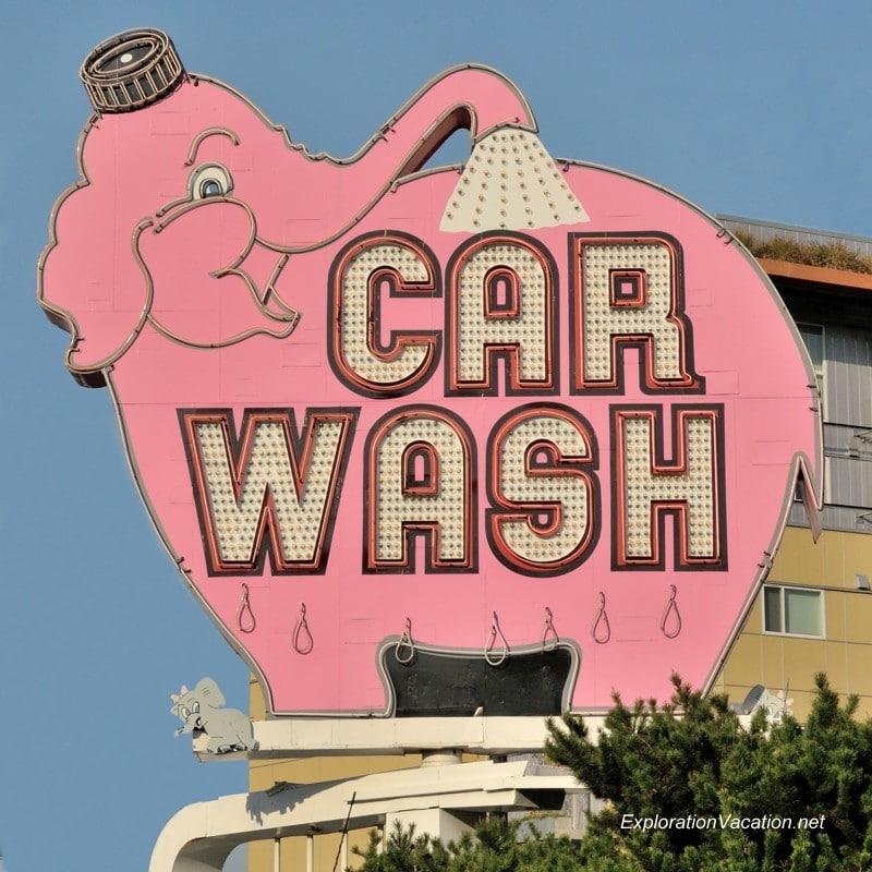 elephant car wash sign
