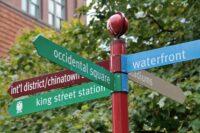 street sign in downtown Seattle Washington - www.ExplorationVacation.net