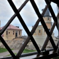 Split Rock Lighthouse through window