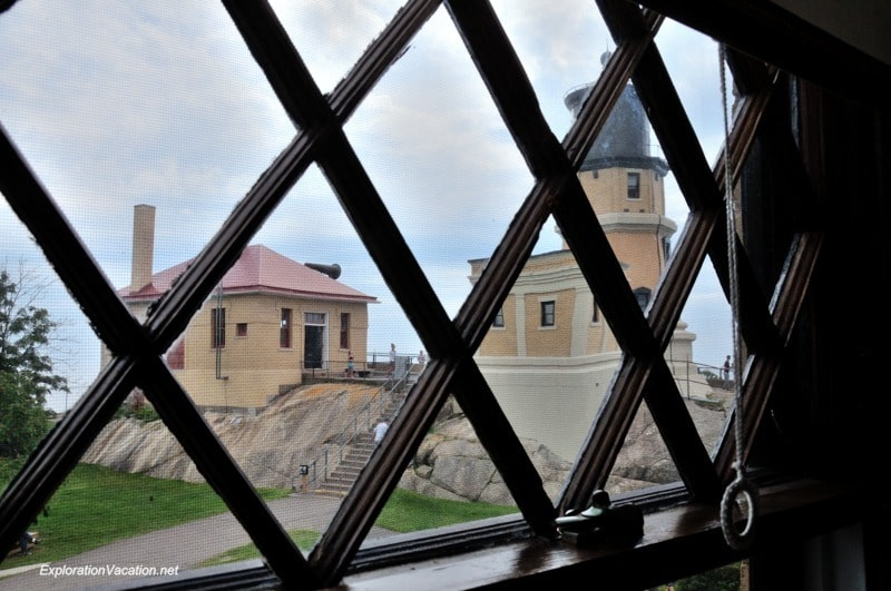 Split Rock Lighthouse through window
