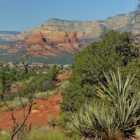 red rock mountains around Sedona Arizona