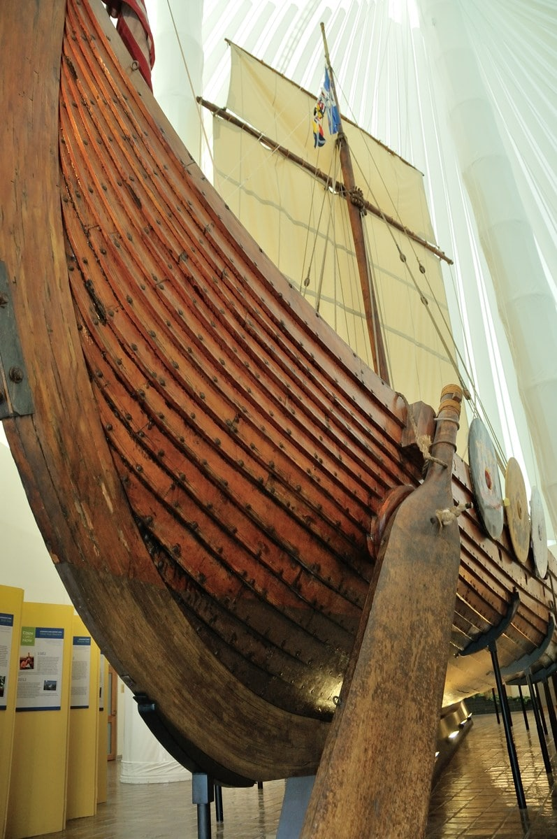 Hjemkomst Viking ship in Moorhead Minnesota