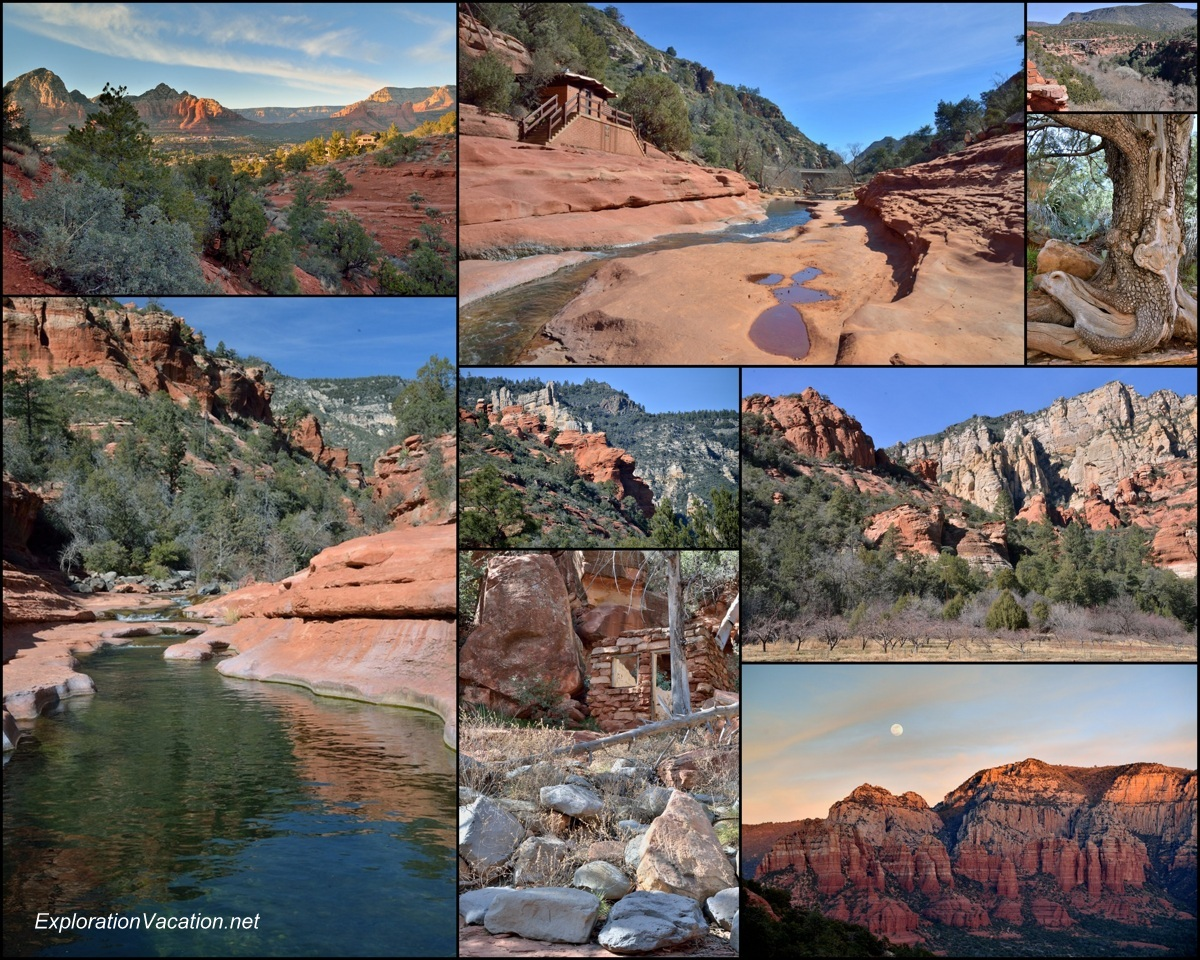 Collage of Oak Creek Canyon scenery