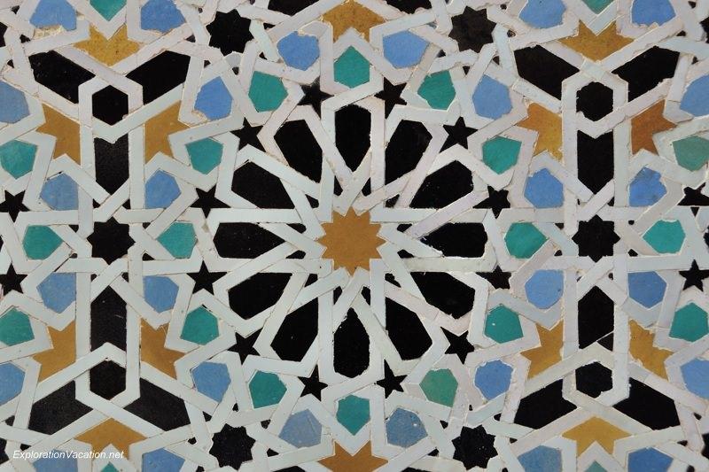 El-Attarine Medersa in Fès Morocco -12- zellij tiles DSC_1158
