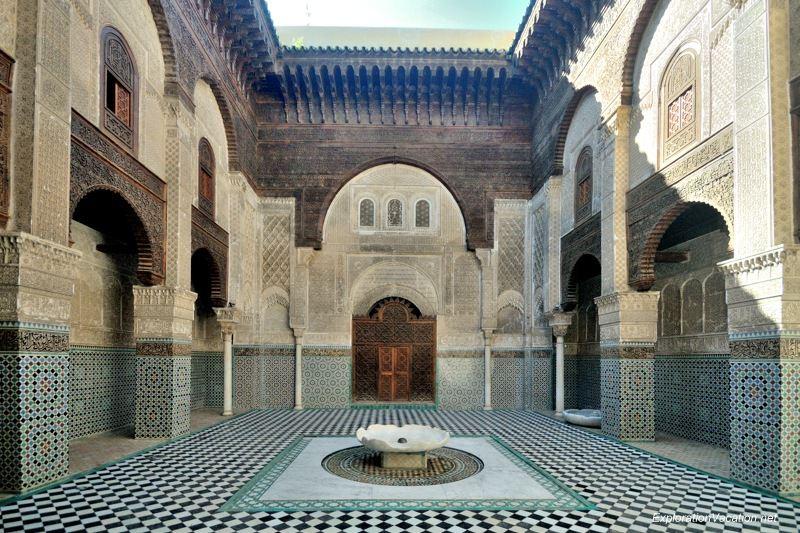 El-Attarine Medersa in Fès Morocco -3 DSC_1175