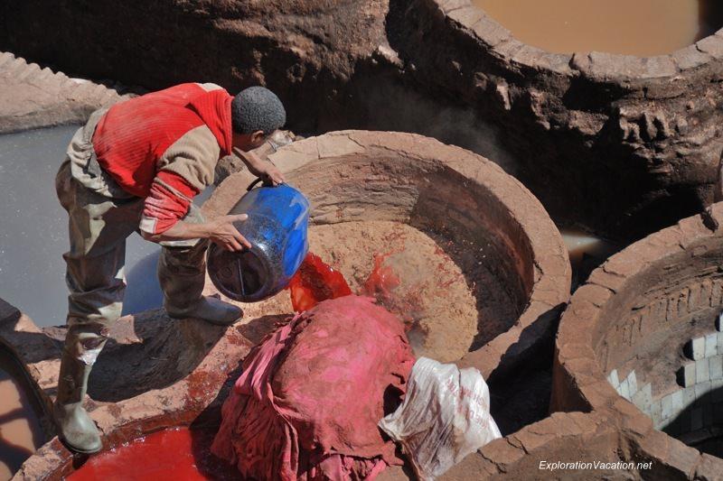 Tannery in Fes Morocco -25 DSC_0503