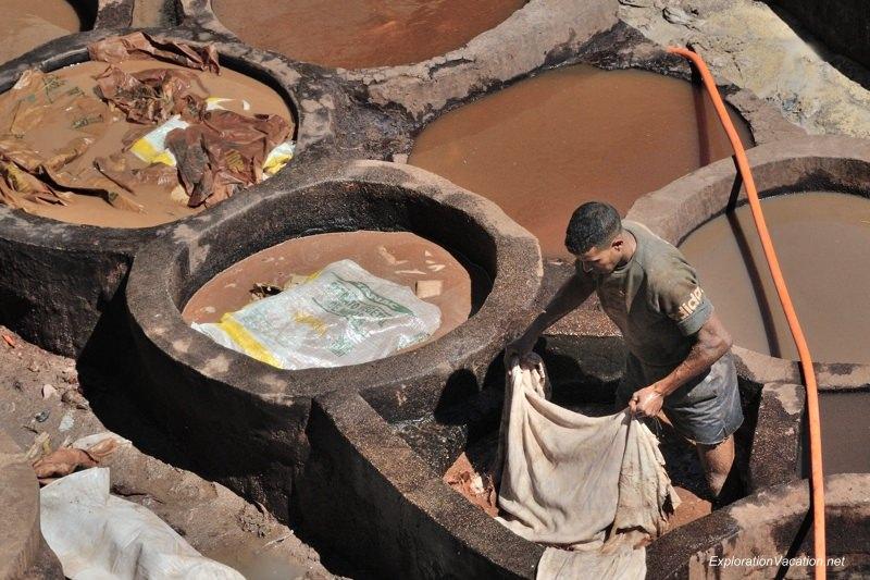 Tannery in Fes Morocco -26 DSC_1635