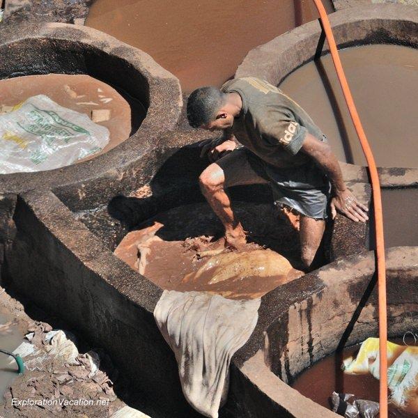 Tannery in Fes Morocco -27 DSC_1632