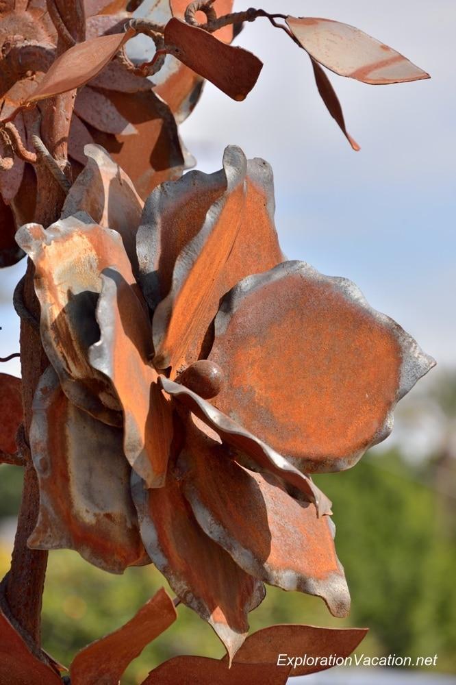 Flower sculptures at the Shemer Art Center in Phoenix Arizona 20140216-DSC_6042