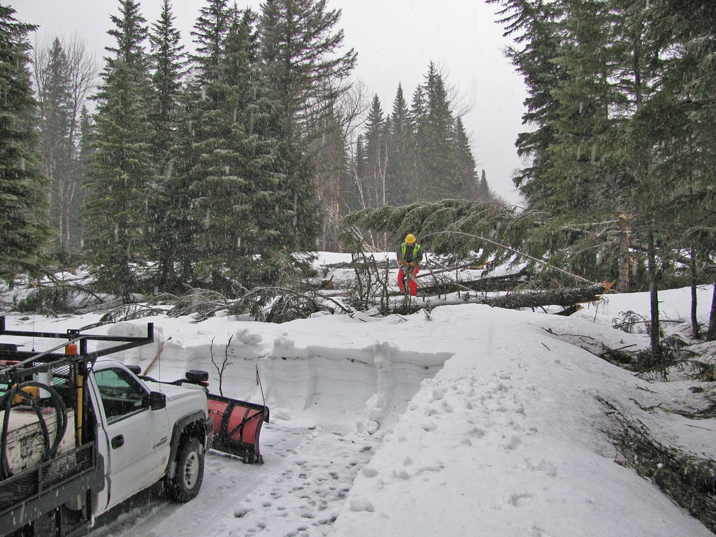 Glacier National Park - 12 slide debris 4-16 13924575214_ecf9de42ee_b