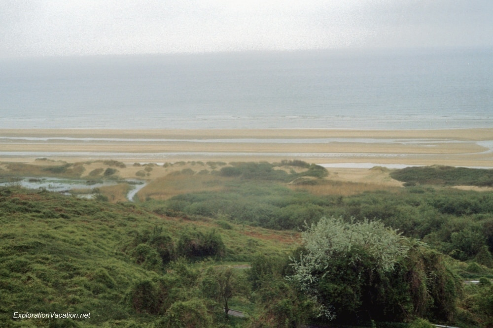 Normandy beaches in 1983