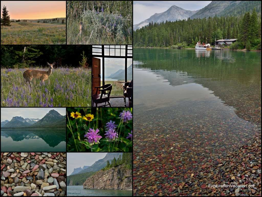 collage of scenery in Canadian mountains