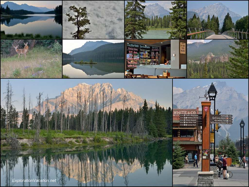 collage of scenery around Banff