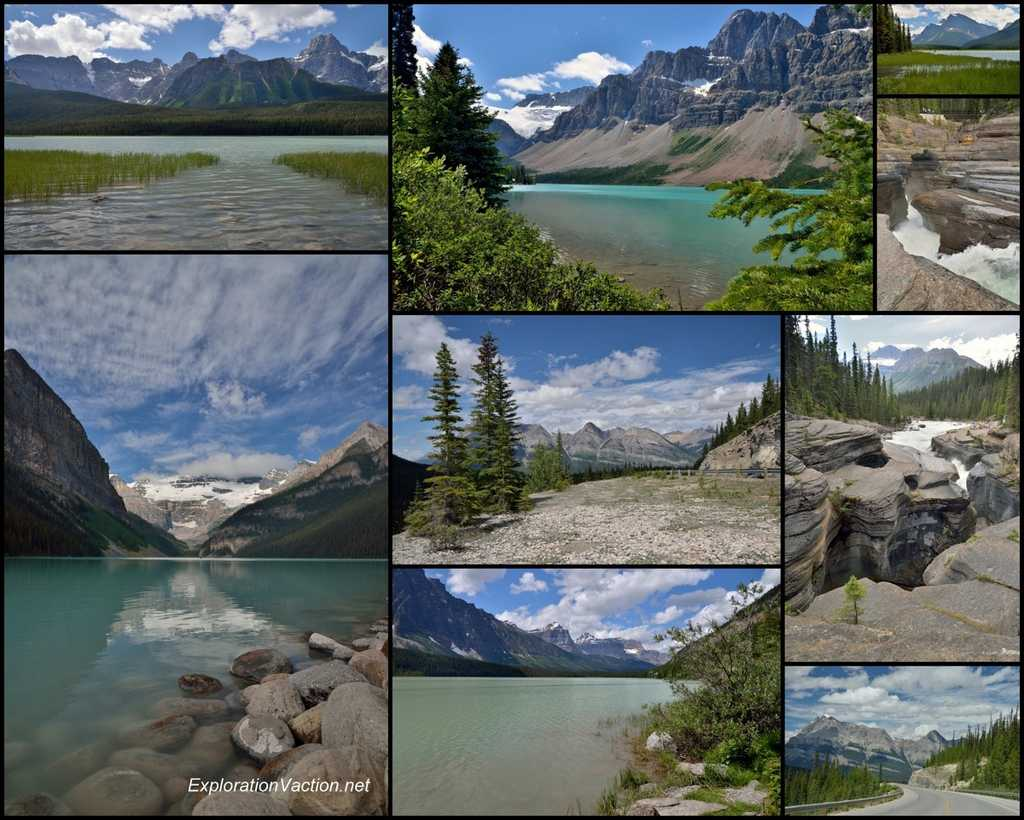 mountain lakes and scenery