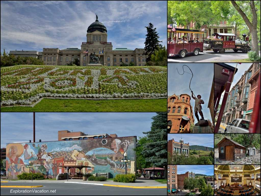 Collage of historic Helena Montana