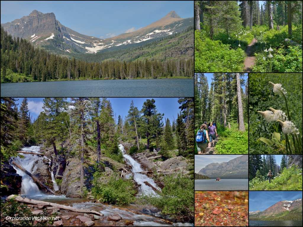 Collage - July 10 - Two Medicine Lake at Glacier National Park - ExplorationVacation