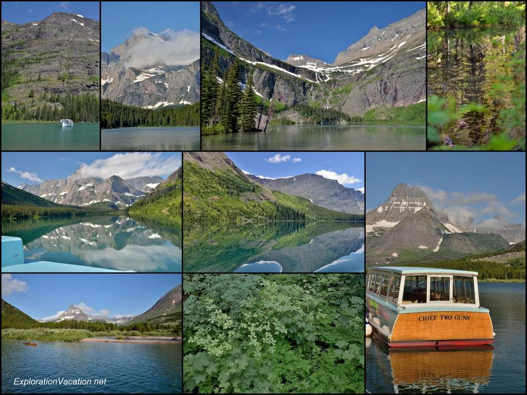 Collage of mountain scenery