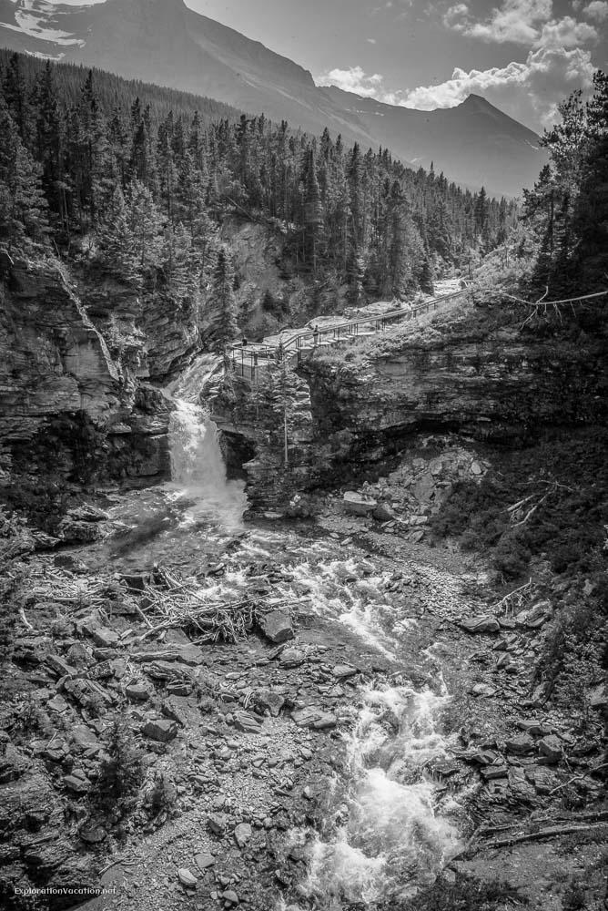 Hiking Red Rock Canyon and Blakison Falls Waterton NP Canada 22 20140713-DSC_3552BW