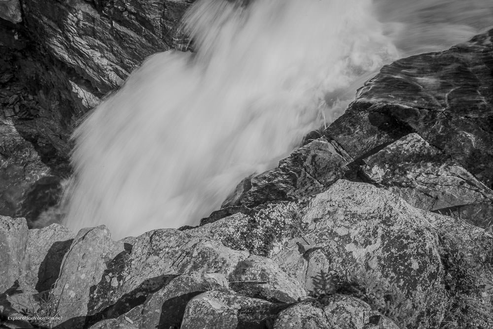 Hiking Red Rock Canyon and Blakison Falls Waterton NP Canada 26 20140713-DSC_3575BW
