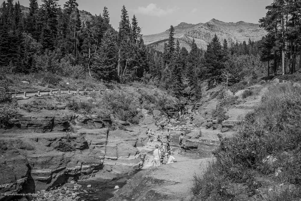 Hiking Red Rock Canyon and Blakison Falls Waterton NP Canada 4 20140713-DSC_3504BW