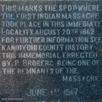 memorial in Monson Lake State Park