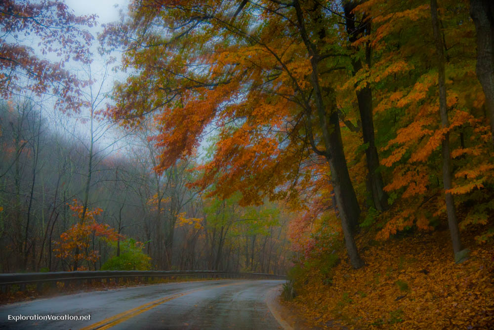 Fall in New Hampshire in the rain - ExplorationVacation.net