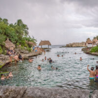 lagoon at Xcaret Mexico