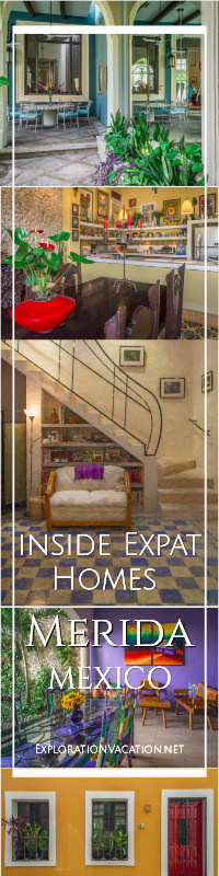 English library Merida Expat House Tour - www.ExplorationVacation.net