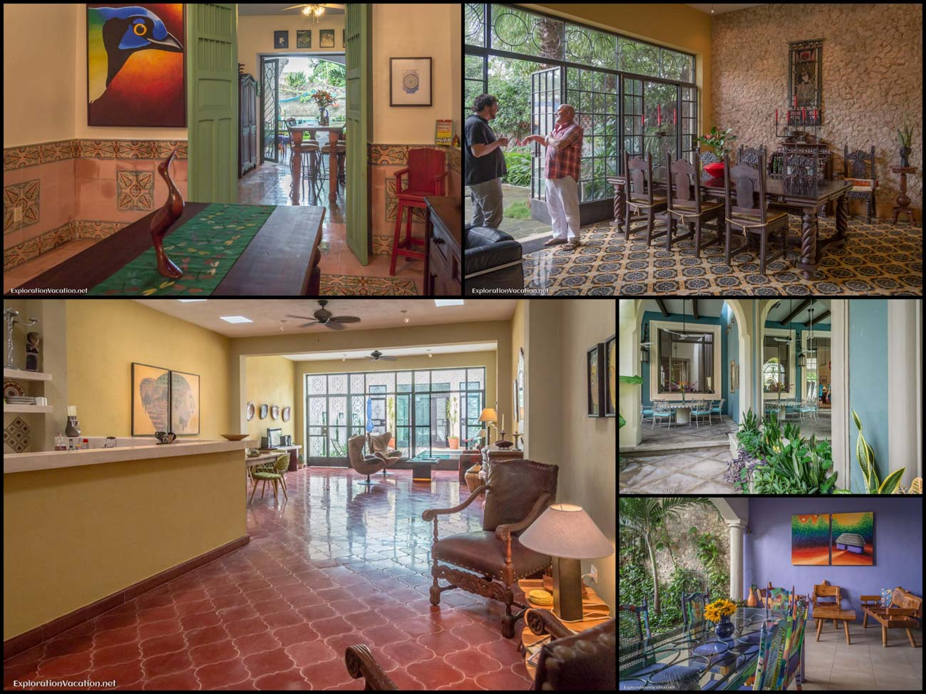 Merida Mexico house tour - 12 living spaces - ExplorationVacation