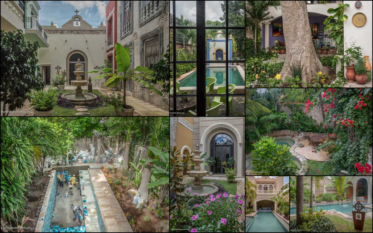 Merida Mexico house tour - 14 pools and fountains - ExplorationVacation