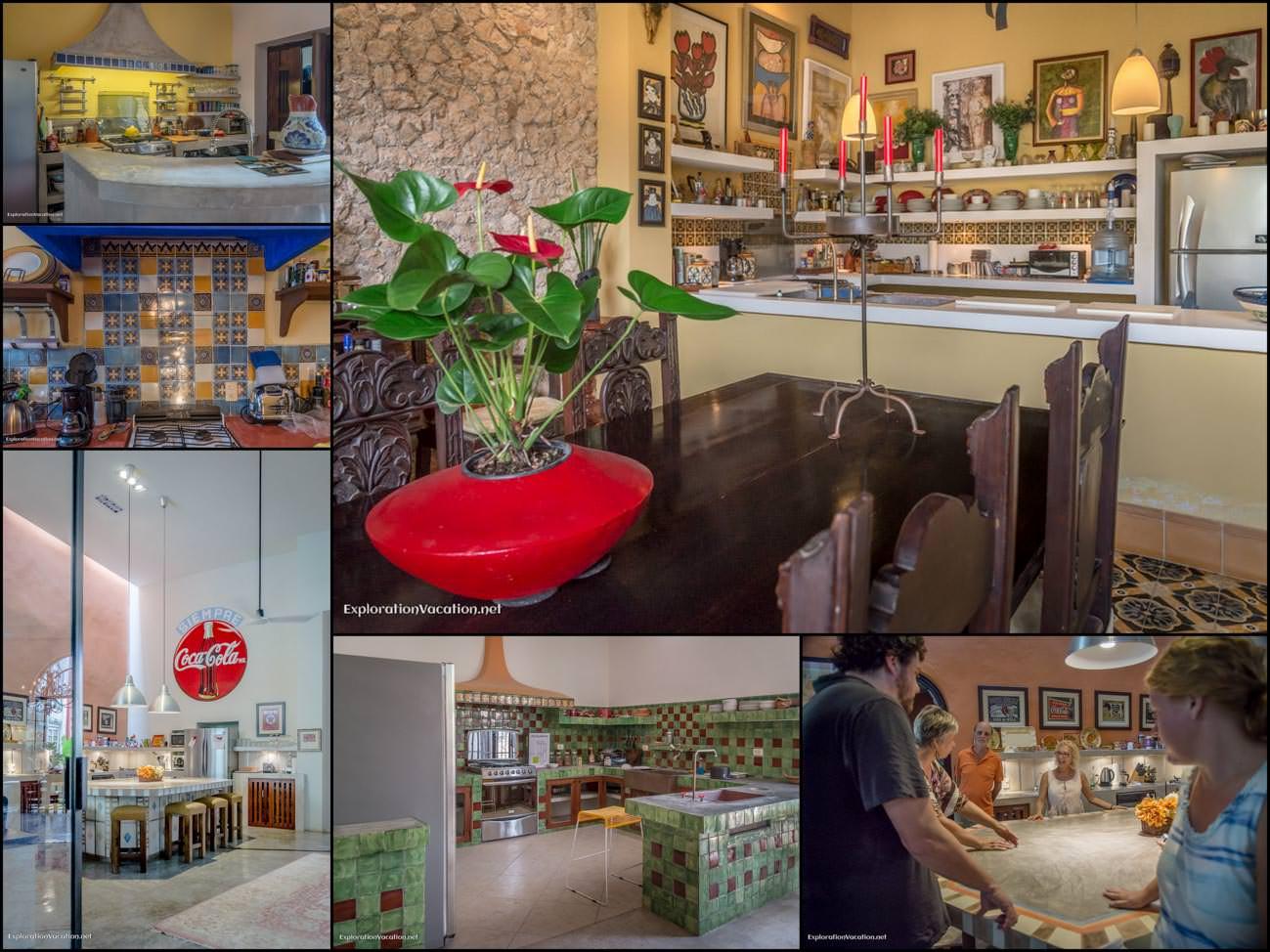 Merida Mexico house tour - 15 kitchen collage - ExplorationVacation