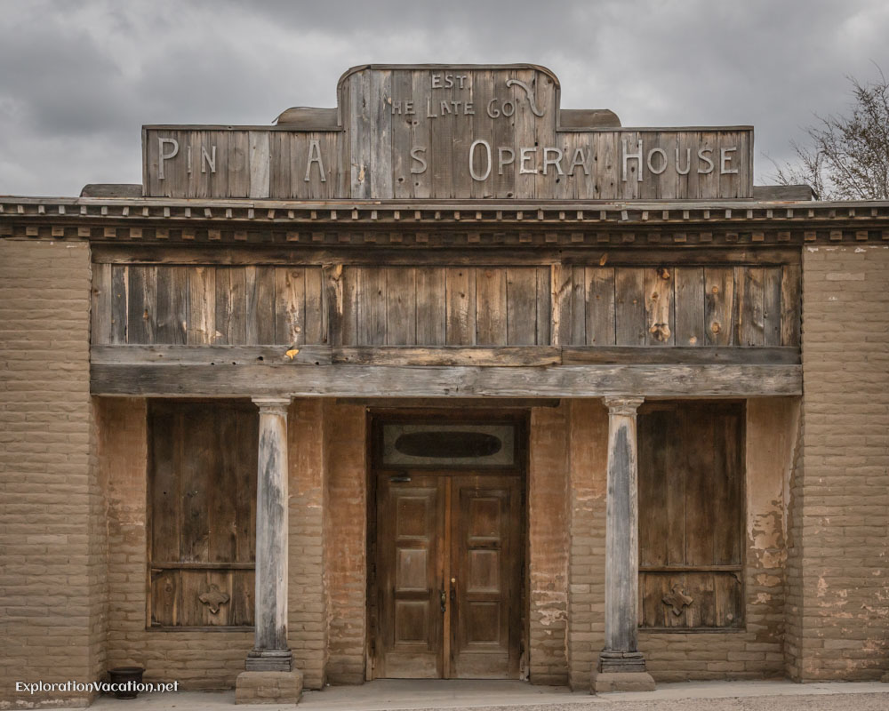 historic opera house in Pinos Altos New Mexico - ExplorationVacation.net