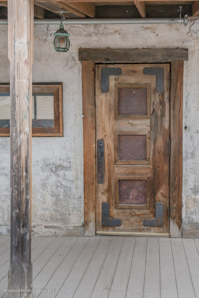 historic door in Pinos Altos New Mexico - ExplorationVacation.net