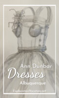 Ann Dunbar aluminum dress with text