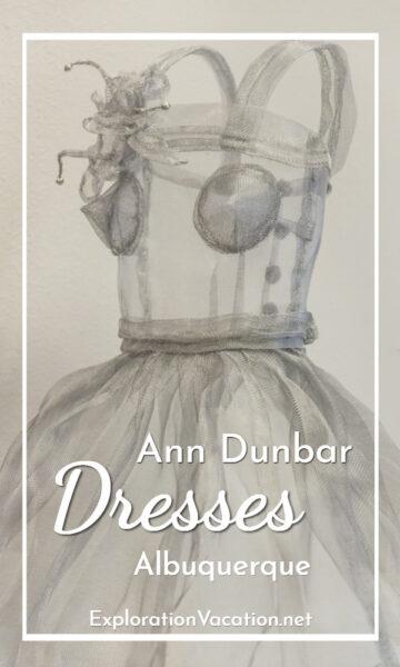 Ann Dunbar aluminum dress with text