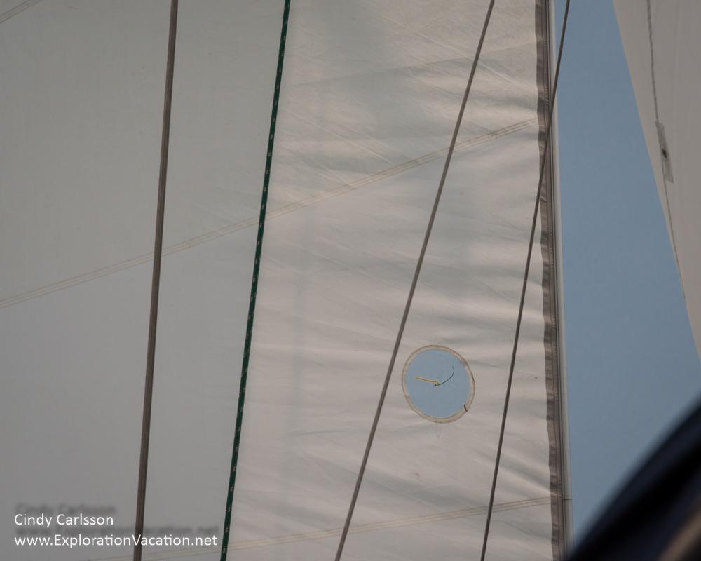 sail in light wind