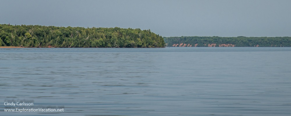 panorama with distant forested islands