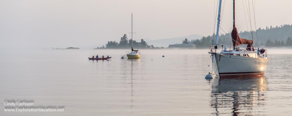 foggy evening in Grand Marais Minnesota - ExplorationVacation