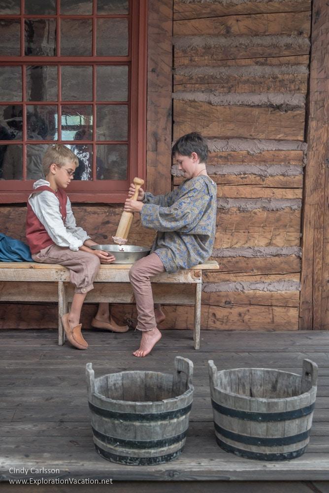 Kitchen staff at Grand Portage Monument Minnesota – ExplorationVac