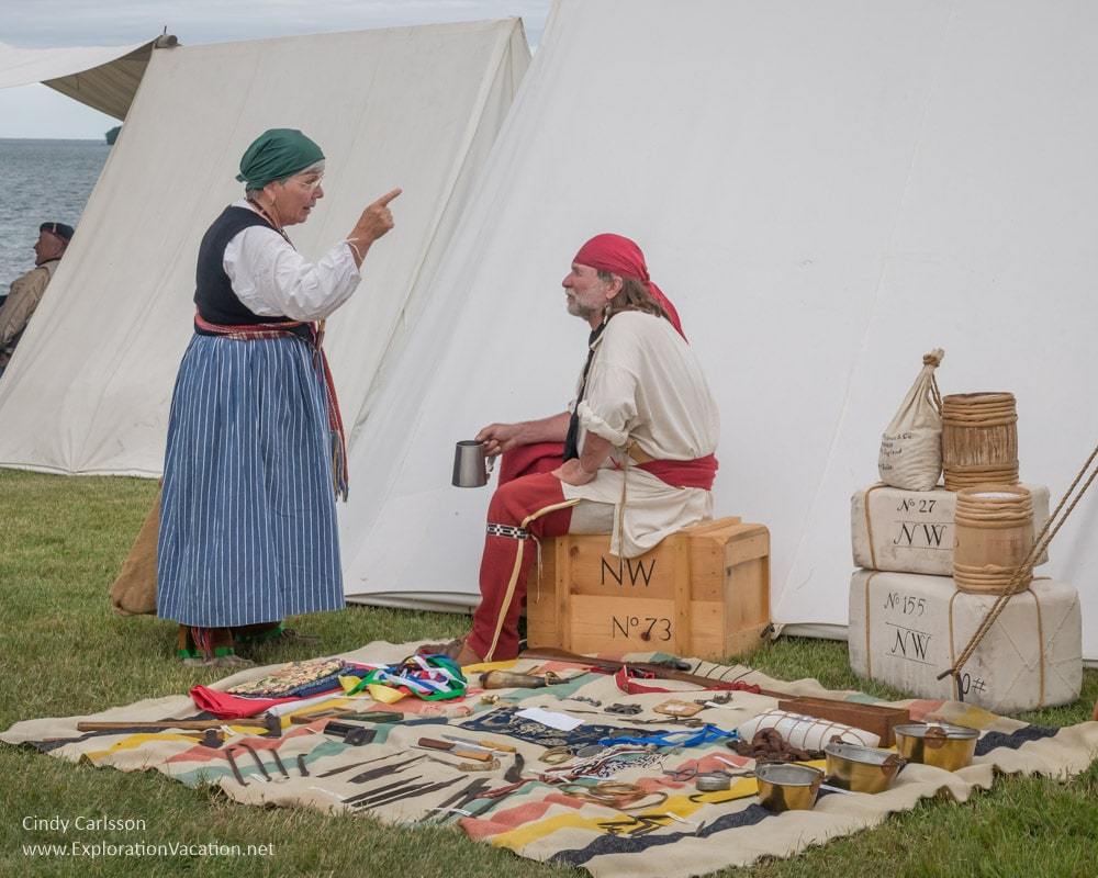 Trader at the Voyageurs camp at Grand Portage Monument Minnesota