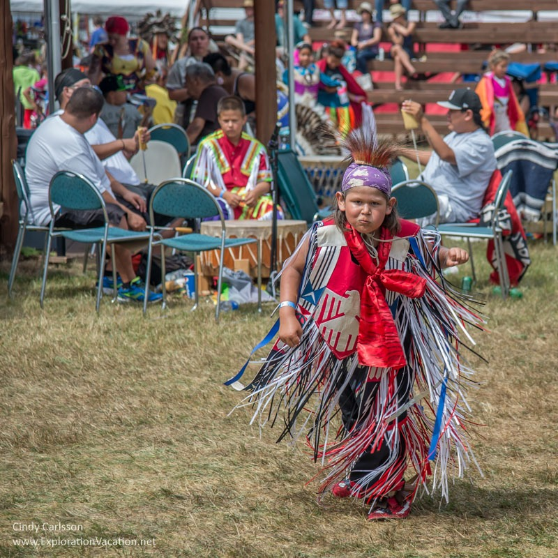 young dancer Grand Portage Powwow