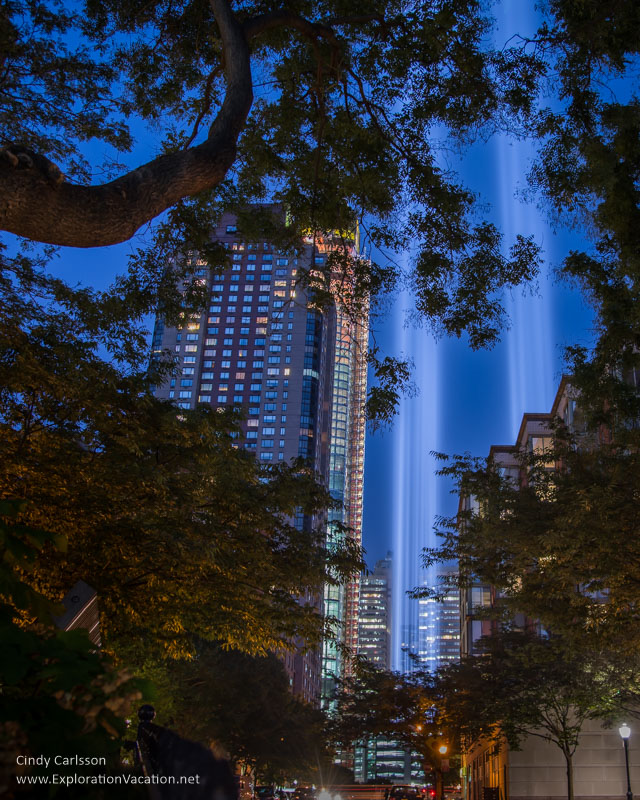 9-11Tribute Lights NYC